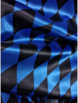 Raso rombos azules y negros