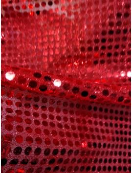Tul de lentejuelas rojo 6 mm
