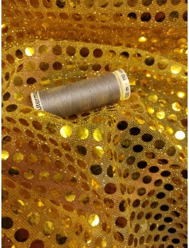 Tul de lentejuelas amarillo 6 mm