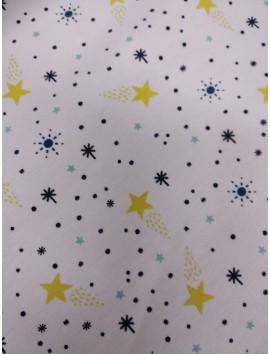 Punto blanco con estrellas