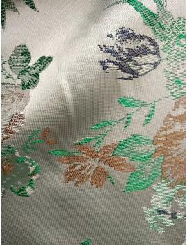 Brocado floral verde