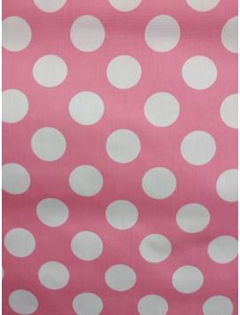 Lunares blancos, fondo rosa
