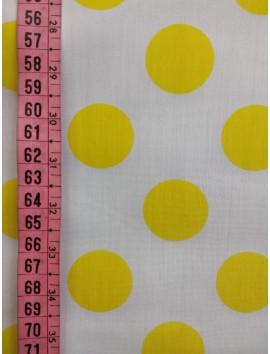 Lunares amarillos , fondo blanco