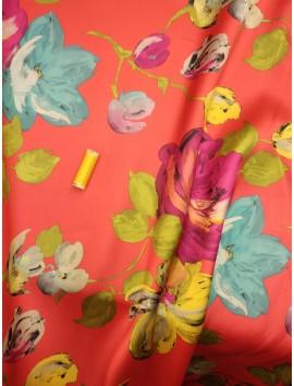 Mikado Flores grandes fucsia y lila