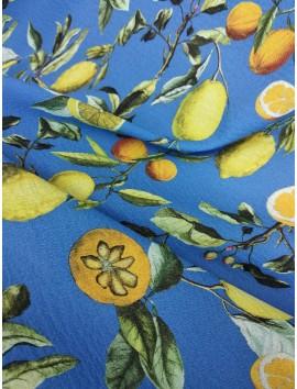 Tela de crepe con limones