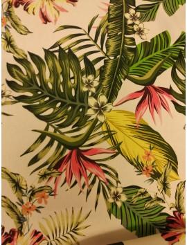Bielástico floral y hojas