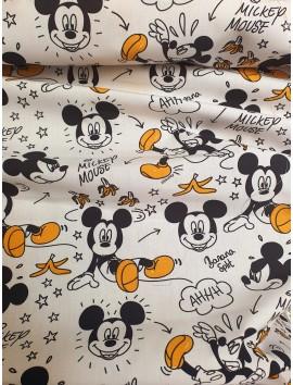 Algodón Patchwork Mickey Mouse y plátanos