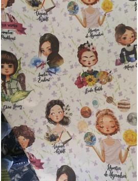 Mantel resinado mujeres pioneras