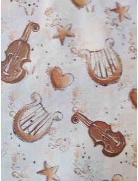 Algodón  musica arpas y violines