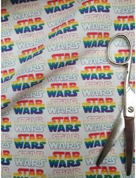 Algodón  Logo multicolor de  Star Wars
