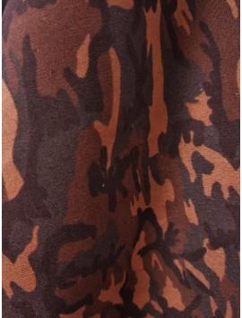 Algodón  estampado militar marrón