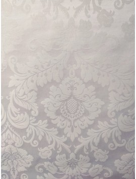 Mantel resinado damasco blanco