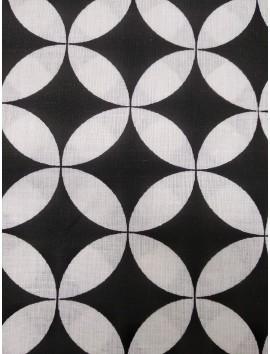 Algodón blanco y negro