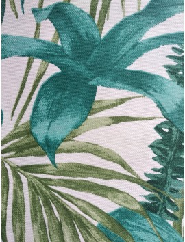 Mantel resinado hojas verdes