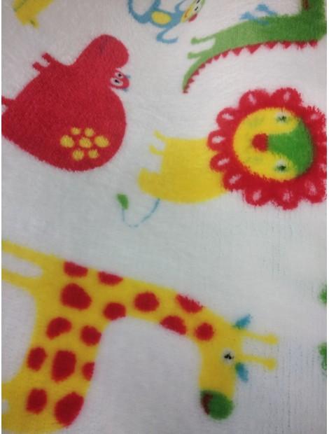 Coralina  animales amarillos y rojos