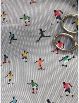 Tela de algodón futbolistas