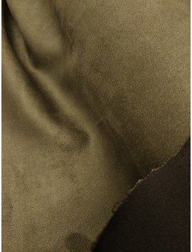 Tela antelina caqui oscuro reversible negro