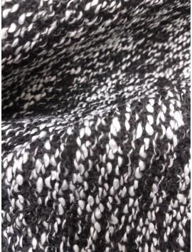 Tweed abrigo jaspeado