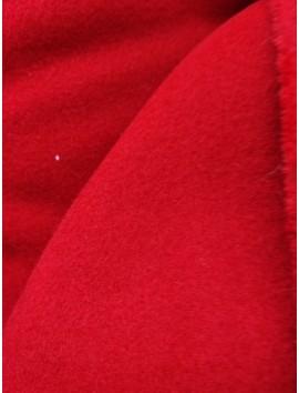 Tela de Paño  de abrigo rojo