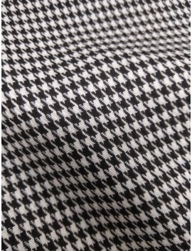 Tela tweed pata de gallo blanco y negro