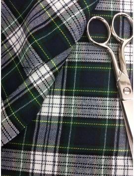Cuadros Escoceses azul , verde y blanco
