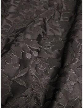 Brocado negro floral rayón