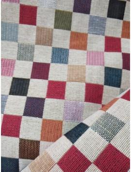 Tela de tapiz gobelino cuadros multicolor grandes