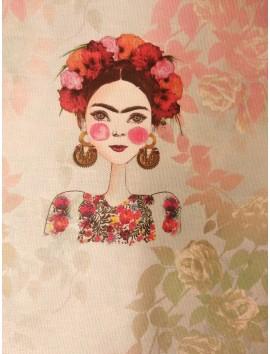 Loneta Frida Kahlo flores