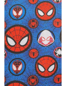 Tela de algodón Spiderman caras