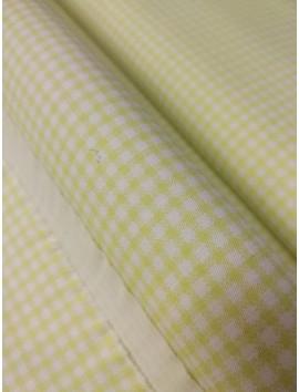 Tela de Algodón cuadros amarillos