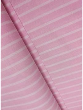 Tela de Algodón rayas rosas