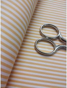 Tela de Algodón rayas amarillas y blancas
