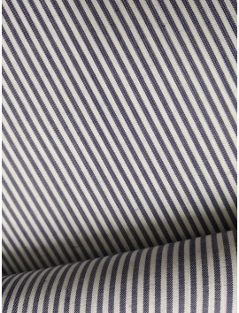 Tela de Algodón rayas grises