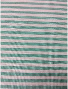 Tela de Algodón rayas verdes