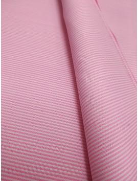 Tela de Algodón rayas finas rosas