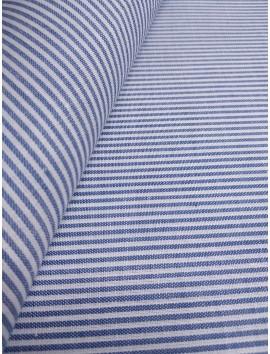 Tela de Algodón rayas azul y blanco