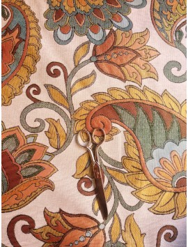 Tela de tapiz gobelino flores grandes