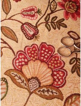 Tela de tapiz gobelino floral