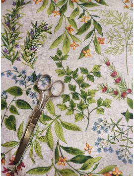 Tela de Mantel anti manchas flores silvestres