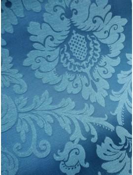 Mantel resinado damasco azul
