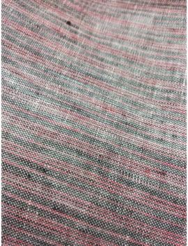 Lino rayas gris y rosa