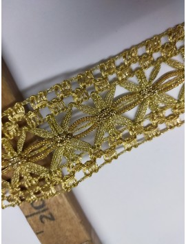 Pasamanería metálica oro  P5 - 5 cm