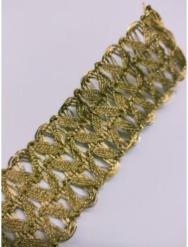 Pasamanería metálica oro  P25 - 5 cm