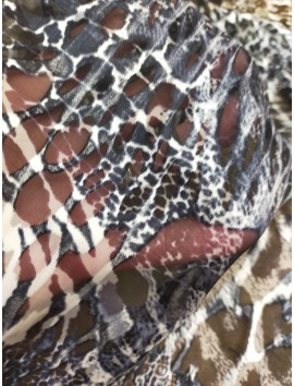 Tela de Gasa devore animal print