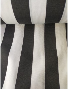 Tela de loneta rayas negras y blancas