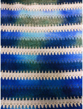 Punto tipo Missoni azul