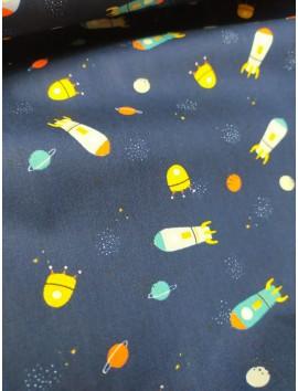 Tela de algodón cohetes espaciales