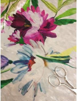 Terciopelo flores fondo blanco