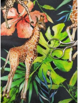 Crepé jirafas y hojas