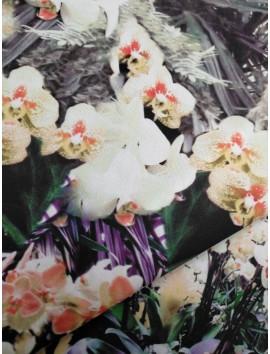 Viscosa estampado floral acuarela